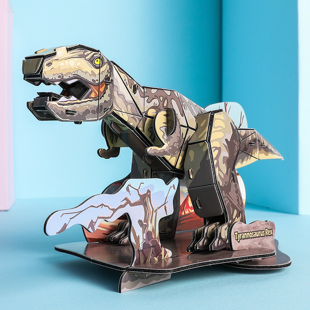 New 3D dinosaur puzzles For kids EPS foam paper puzzle Toys Animals DIY funny educational toy children learning Puzzle IQ 2