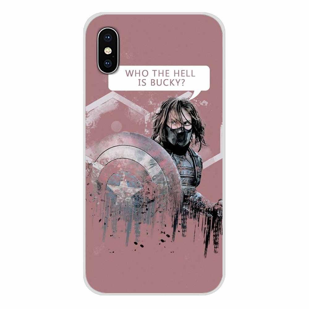 Marvel Musim Dingin Prajurit Bucky Barnes untuk Huawei Nova 2 3 2i 3i Y6 Y7 Y9 Prime Pro GR3 GR5 2017 2018 2019 Y5II Y6II Custom Case