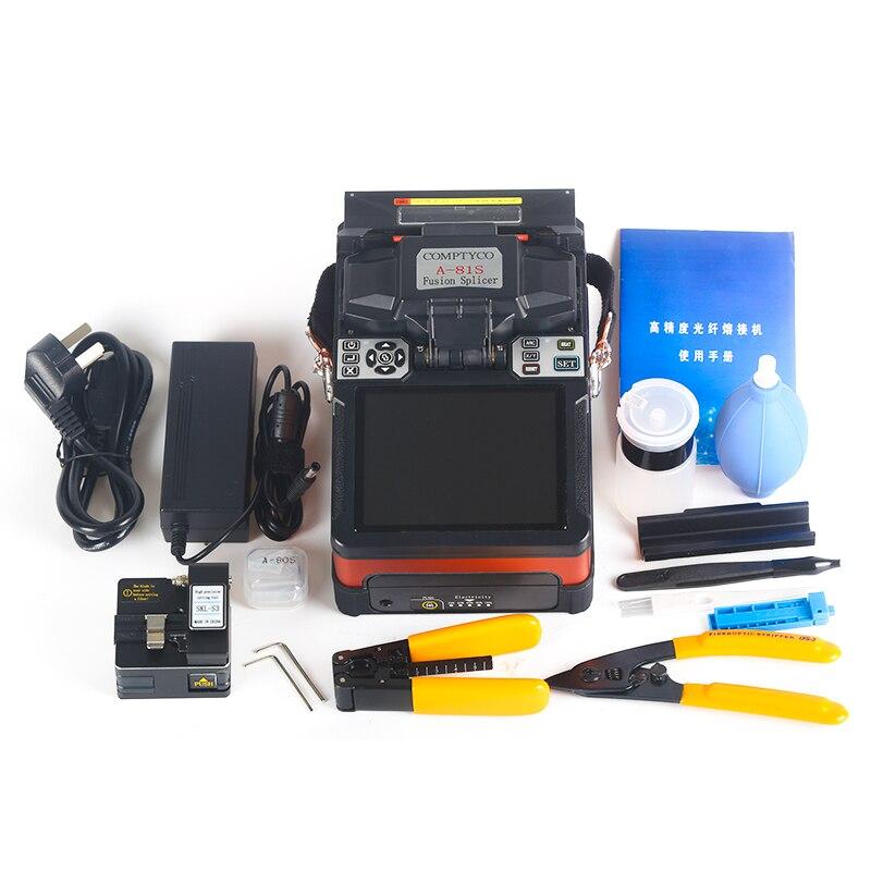 Дешевый FTTH волоконно-оптический сварочный аппарат для сращивания A-81S сварочный аппарат для сращивания с 9 секундами Время сращивания - Цвет: Orange machine