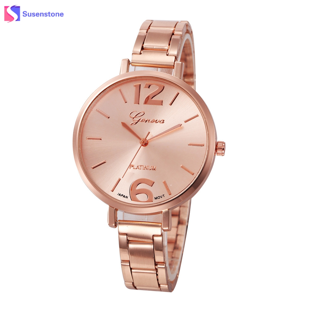 2018 Fashion Women Big Dial Analog Quartz Watch Rose Gold Stainless Steel Luxury Ladies Wrist Watches relogio feminino fashion brand v6 quartz women watches rose gold steel thin case classic simple dial leather strap ladies watch relogio feminino