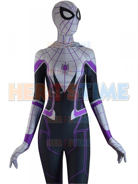 3D Printed Homecoming Spider-Gwen Zentai Spiderman Costume Halloween Gwen Stacy Spider-man Cosplay Female Spider Lycra Suit