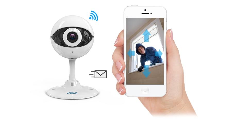 KERUI N61 Wireless Home Security IP Camera Wireless Mini IP Camera Surveillance CCTV Camera Wifi 720P Night Vision Baby Monitor_104