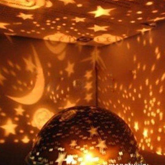Luzes da Noite rotação starry sky estrela lua Formato : as The Picture