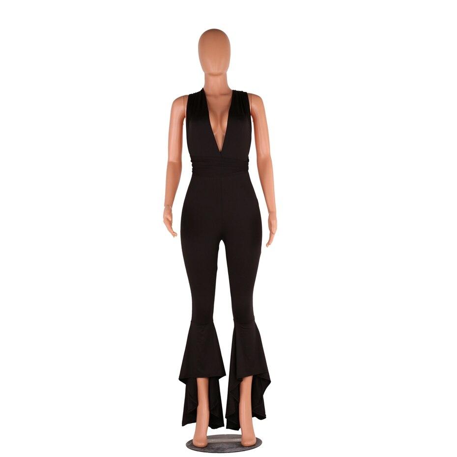 HAOYUAN Wide Leg Bodycon Jumpsuit Deep-V Summer Full Bodysuit Bodies Woman  Sexy Club Party Black White Rompers Womens Jumpsuit - TakoFashion - Women s  ... 9709a6133