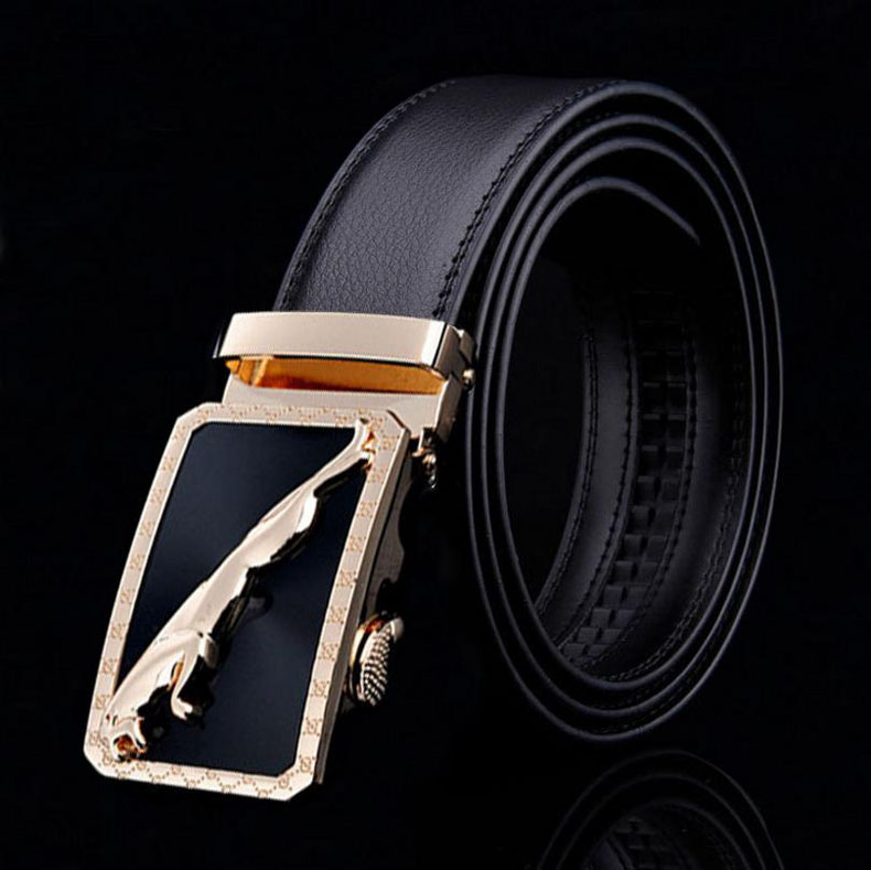 Luxury brand Male Genuine Leather Strap Belts For Men High Quality Cowskin Men Belts Automatic Buckle black Belts Cummerbunds