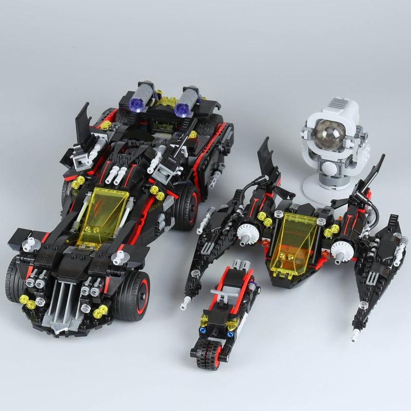 Marvel Super hero compatible Legoinglys Batman Movie - The Ultimate Batmobile Set Lepin 07077 1496Pcs Building Blocks Bricks Toy