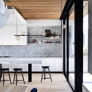 Image 2 - Plafonnier suspendu au Design nordique minimaliste composé de molécules de verre, Art créatif, luminaire dintérieur, idéal pour un salon, un Restaurant
