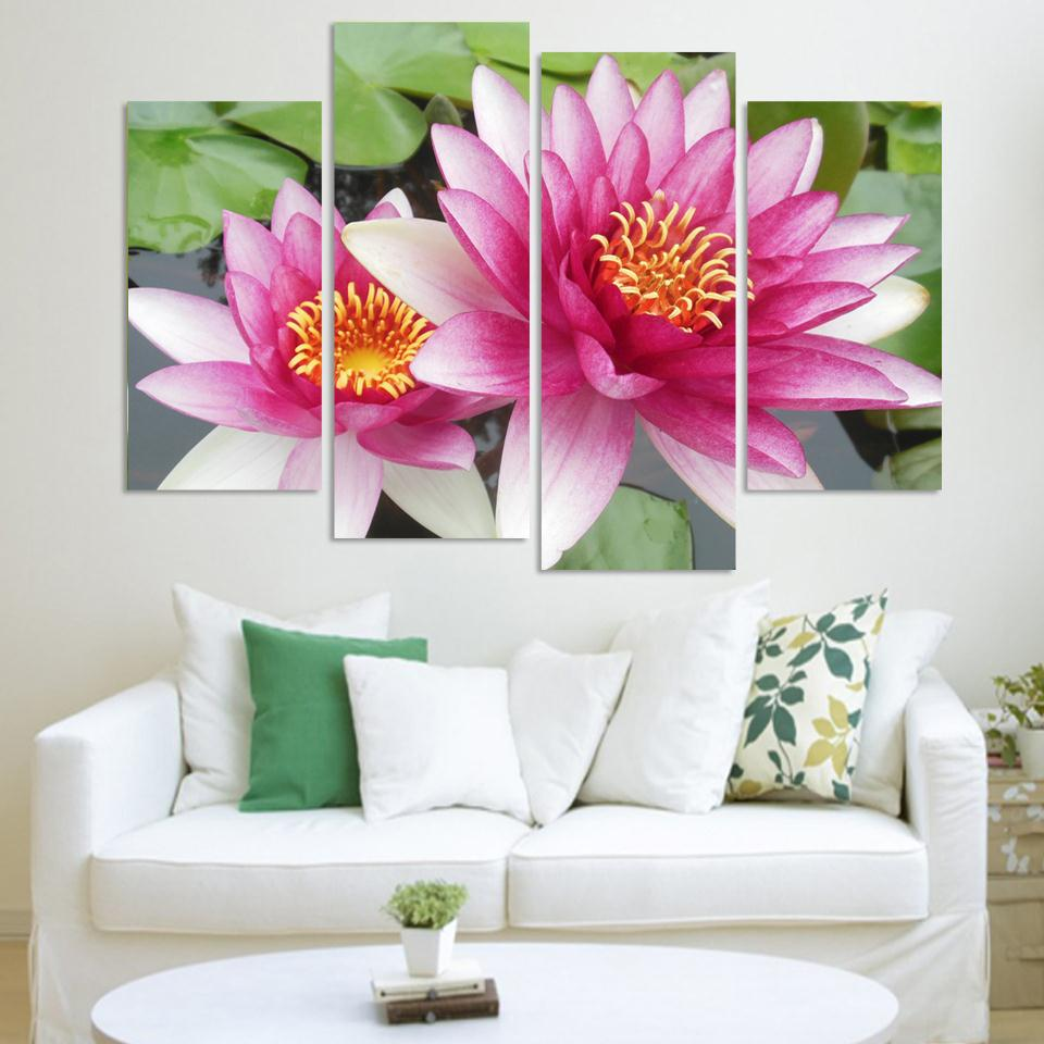Lotus Flower Wall Art compare prices on lotus wall art- online shopping/buy low price