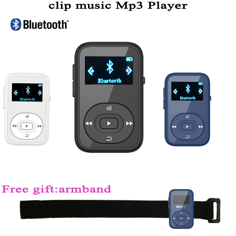 цена на Mini Clip MP3 RUIZU X26 MP3 player Bluetooth 8GB Sport Mp3 Music Player Recorder FM Radio Support SD Card mp3 Music player