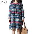 2017 Fashion African Print Dresses Spring Autumn Boho Dresses Long Sleeve Bohemian Dress Casual Striped Women's Clothing