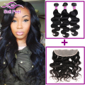 Peruvian Virgin Hair Body Wave With Frontal Closure 3 Bundles Human Hair Lace Frontal With Bundles 13x4 Lace Closure Fast Deals