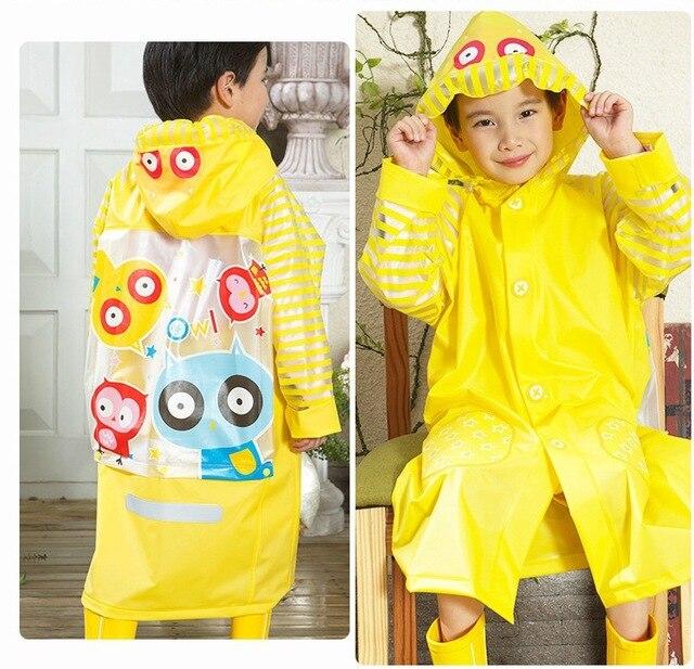 64db7eeebb4f Owl PVC Kids Raincoat Waterproof Baby Fashion Design Kids Rain Coat ...