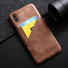 Для iphone XS MAX натуральная кожа чехол для телефона для iphone XS MAX XR X 7 8 плюс 8 плюс CKHB теплые ультратонкий карта слот задняя крышка