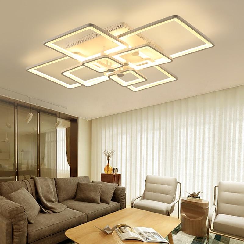 DIY Acryl Led deckenleuchte Moderne Wohnzimmer Deckenbeleuchtung ...