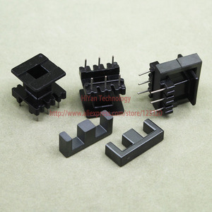 20sets/lot EE25 PC40 Ferrite Magnetic Core and 3 Pins + 3 Pins Top Entry Plastic Bobbin Customize Voltage Transformer