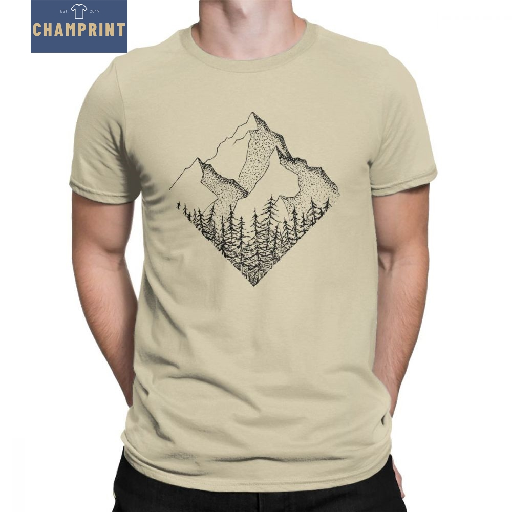 A gama de diamantes t camisa masculina ao ar livre montanhas caminhadas camiseta parques nacionais casual algodão manga curta t-shirt plus size