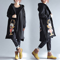2016 Осень и Зима Новый Женская Мода Тренч Корейский Свободные Большой Хлопок Длинный Толстый Овечьей Шерсти Плащ
