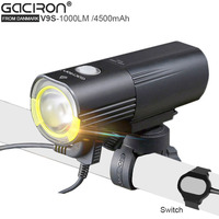 USB Bicycle Light 4500mAh C REE L2 Lamp Bike Light Portable Power For Mobile With Battery