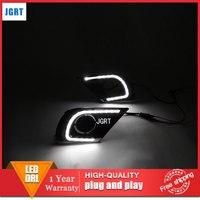 Тюнинг автомобилей 2013 2014 для Toyota Innova светодиодный DRL для Innova светодиодный туман лампы дневного света высокая яркость руководство светодиод