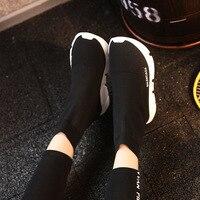 Sapatos Adulto Sneaker Masculino de Lã de Malha Stretch Meias Sapatos Para Homens Turismo Plana Net Respirável Homens Calçados Esportivos