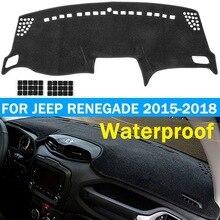 Автомобильный коврик для приборной панели Autoleader, нескользящий коврик для приборной панели, Накладка для Jeep Renegade,,, для левостороннего привода