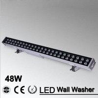 5 قطعة/الوحدة 48 واط led الفيضانات بقعة ضوء أدى الجدار غسالة ضوء 48 واط 1000 ملليمتر * 70*55 ملليمتر ac85-265v ip65 للماء rgb غسل الإضاءة