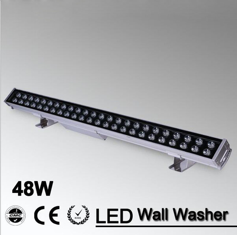 5pcs/lot 48w led flood spot light  LED Wall Washer Light 48W 1000mm*70*55mm AC85-265V IP65 Waterproof RGB Wash Outdoor Lighting led wall washer light lamp led flood light spot lamp project light 36w 36 led ac85 265v rgb and single color optional