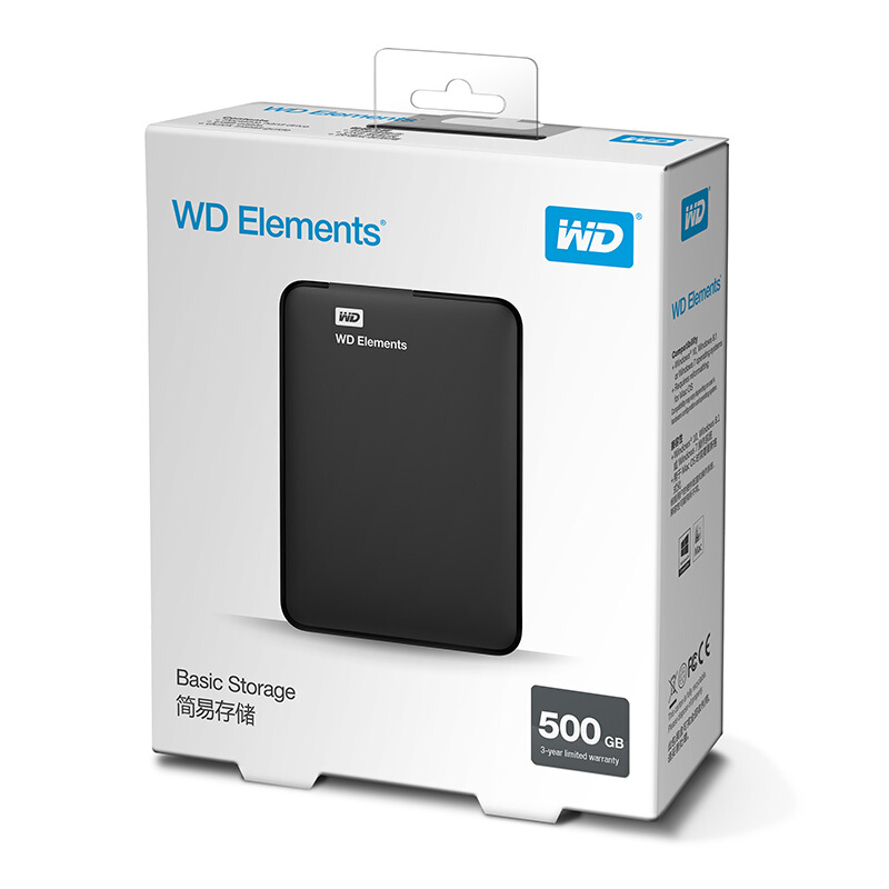 Western Digital WD Elements Portable disque dur externe 500 GB 1 TO 2.5