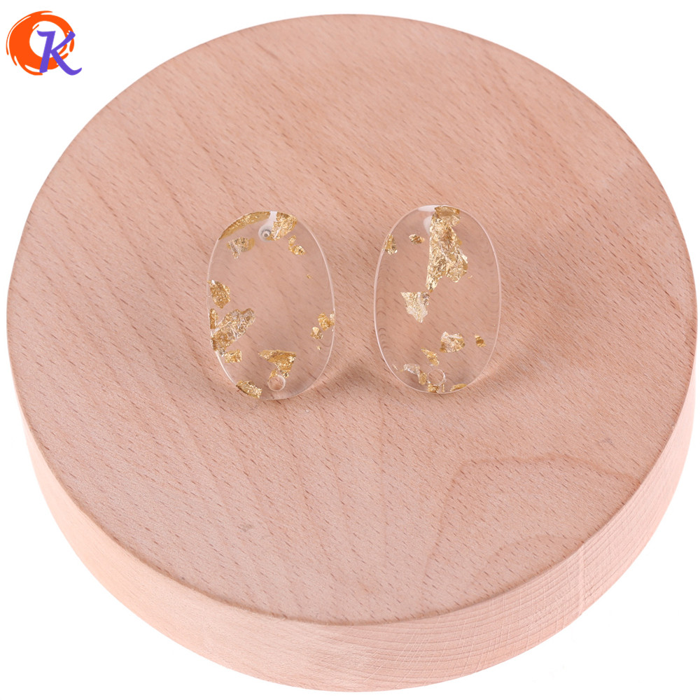 Cordial Design 50Pcs 18*27mm Jewelry Findings/Stud For Diy Earrings/Gold Foil In Stud/Hand Made Parts/DIY Earring Accessories