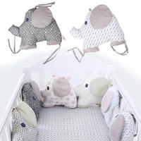 Cotton Baby Crib Padding Bumper Cradle Protector 6 Pcs Set