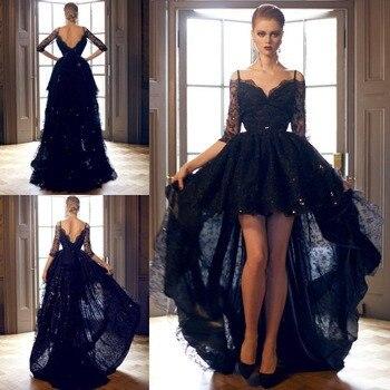 Popular Black Open Back Lace Prom Dress-Buy Cheap Black Open Back ...