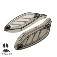 New Motorcycle Smoke Adjustable Side Wing Air Deflectors Fairing For Harley Electra Glide Classic CVO FLHT 1996 2013