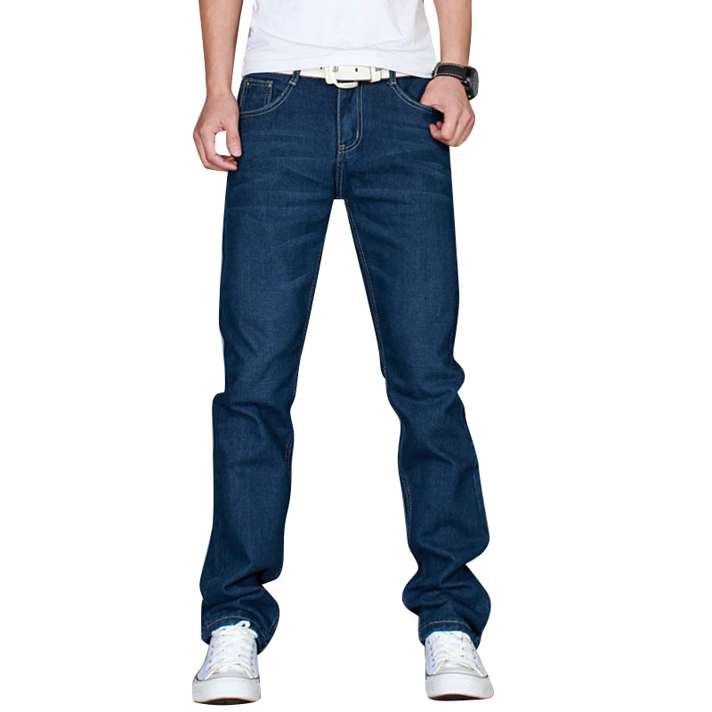Spring  Autumn Winter Jeans Men 2017 Middle Waist Men Jeans Straight Denim Pants Men Fitness Trousers Large Size Size AEP1181