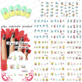 HOTSALE 50sheet/lot SpongeBob Cute Cartoon Nail Art Water Decals Transfer Sticker for nail art accessories individually packing