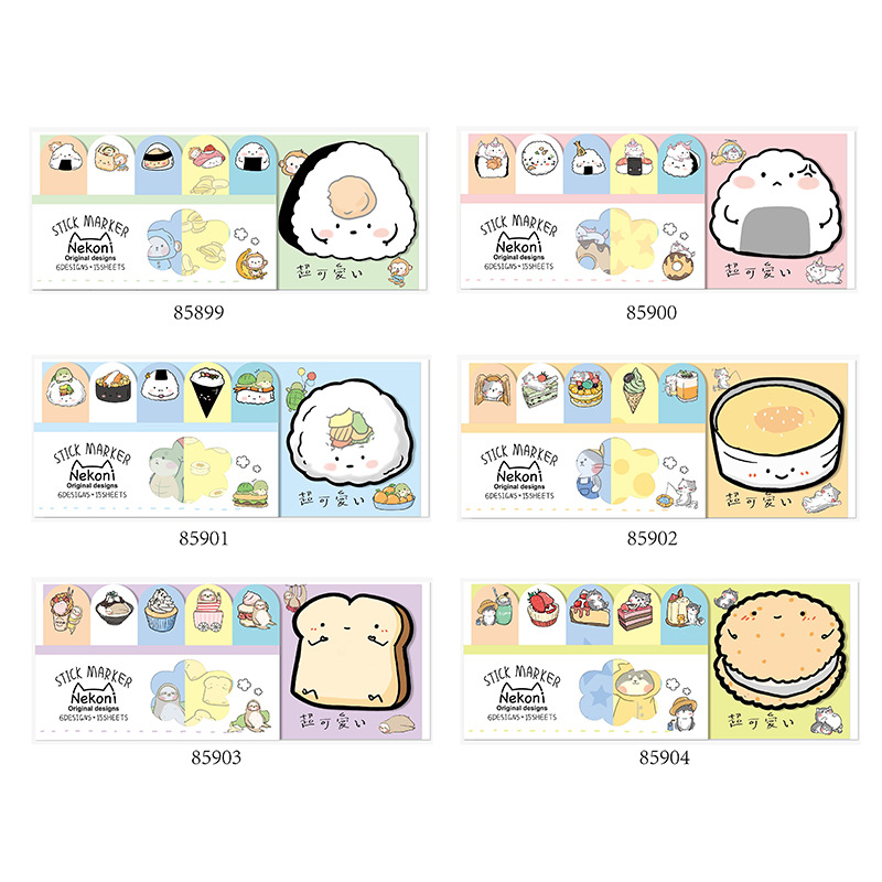 Japanese Sushi Memo Pad Sticky Notes Escolar Papelaria School Supply Bookmark Label