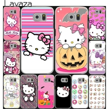 Lavaza Fashionable Hello Kitty cute Hard Style White for Samsung Galaxy S3 S4 S5 & Mini S6 S7 S8 Edge Plus Case Cover