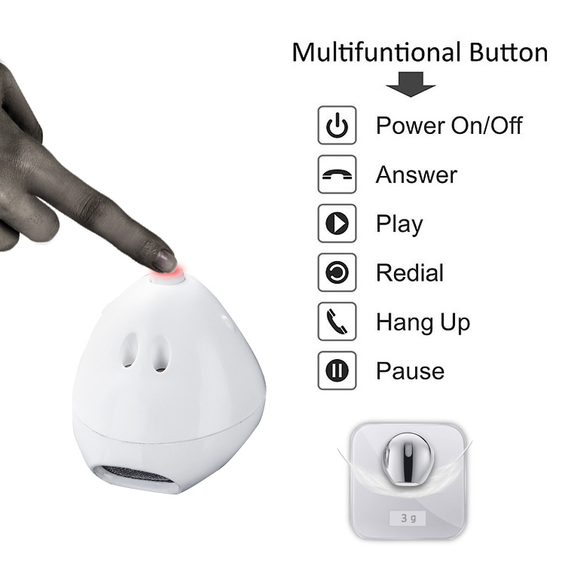 Mini IP8 Bluetooth Earphone True Wireless Earbud Stereo Music Headset Hands-free with Charging Box for Samsung iPhone single