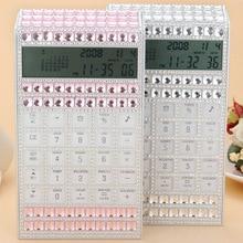2017 Moda Creativa Portable Calculadora con el Calendario de Diamantes de Cristal Botón de Suministros de Papelería de Oficina Electrónica
