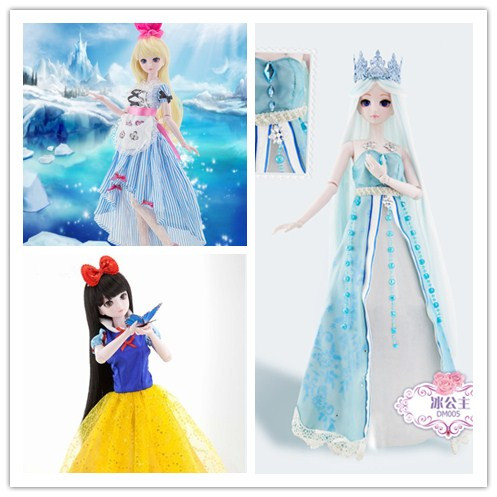 19'' <font><b>BJD</b></font> Doll 50cm Fashion Large <font><b>BJD</b></font> Doll Toys Cosplay Rapunzel Dress Clothes Shoes Makeup Fairy <font><b>SD</b></font> Doll Princess baby toys image