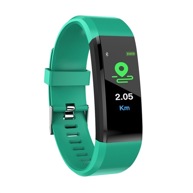 Couple Smart Wristband ID115 Plus Sports Heart Rate Smart Band Fitness Tracker Smart Bracelet Clock For Android IOS