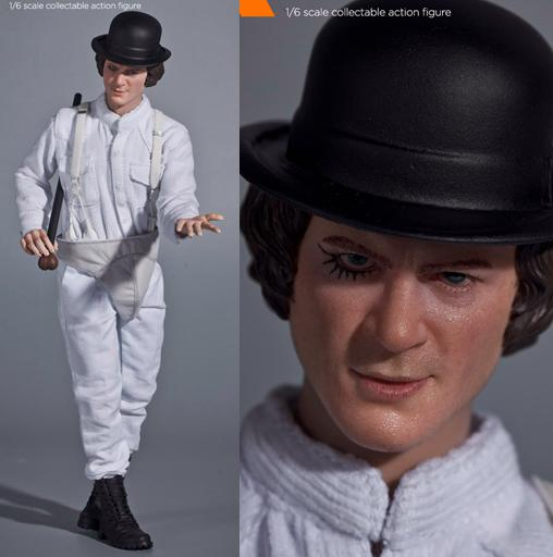1/6 figure doll Kubrick A Clockwork Orange Alex with 2 heads 12 action figure doll.Collectible figure toy model the infernal devices 1 clockwork angel