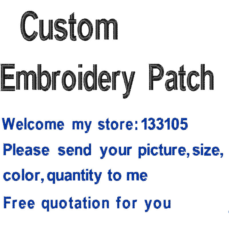 Custom your own Embroidery Patch Iron on/Sew on/Vecro on Embroidered Patches for Clothin ...