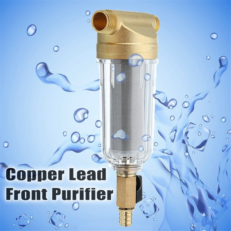 Water Filters Front Purifier Copper Lead Pre-filter Backwash Remove Rust Contaminant Sediment Pipe Stainless Steel Central