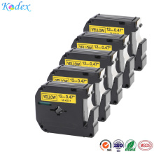 5pcs/lot 12mm  compatible MK-631 black on yellow label tape for Brother p-touch thermal label printer ribbon