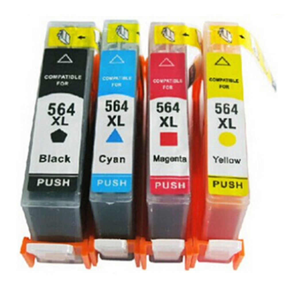 New Gen <font><b>564</b></font> <font><b>XL</b></font> 564XL Ink Cartridges Replacement For HP564 HP564XL Photosmart 6510 6520 7510 7520 Inkjet Printer image