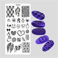 נייל DIY 2017 האופנה האחרון הפולני Stamping צלחות תמונת תבנית בול אמנות 32 סגנונות מדבקות כוללים @