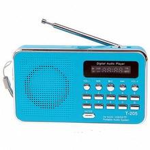 REDAMIGO المحمولة راديو FM استقبال USB ستيريو مكبر صوت صغير راديو FM ubمكبر الصوت سوبر باس راديو محمول TF مايكرو SD MP3 T205R