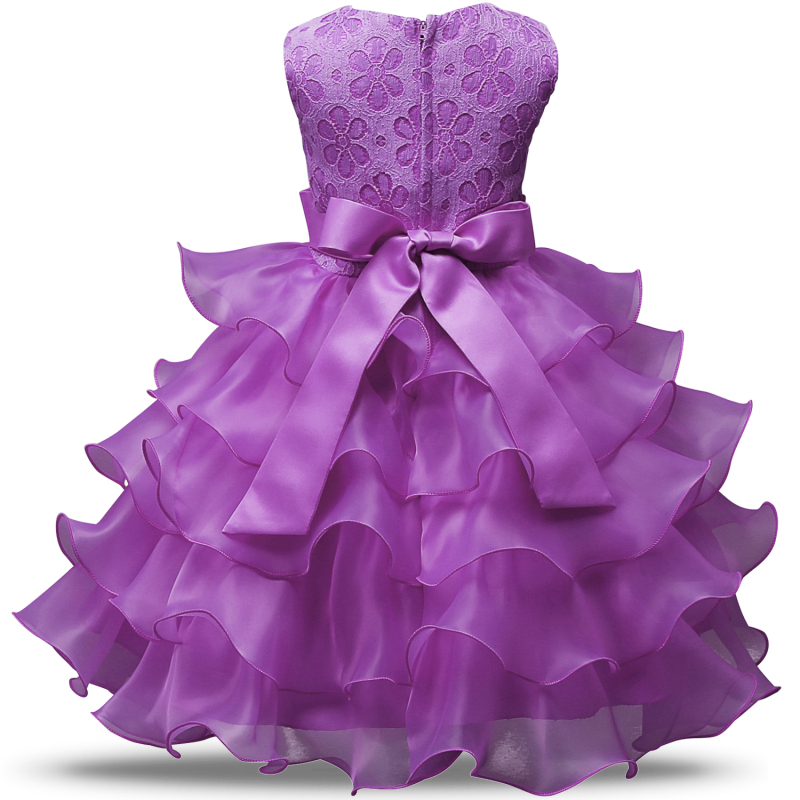 HTB1HSgUXN rK1RkHFqDq6yJAFXaD Flower Girl Dress Formal 3-8 Years Floral Baby Girls Dresses Vestidos 9 Colors Wedding Party Children Clothes Birthday Clothing