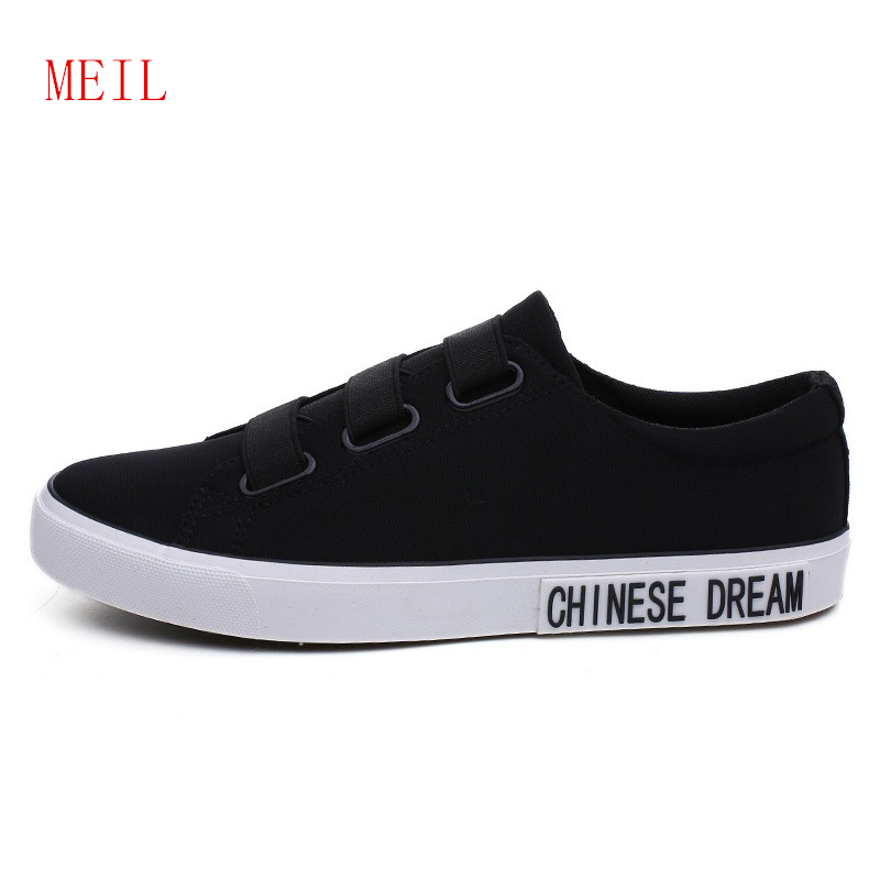 Mens Black Canvas Shoes Casual Breathable Simple Comfortable for Men Loafer 2019 New Youth style Sneakers Flat