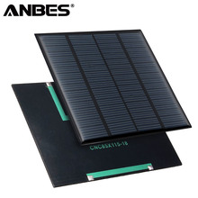 ANBES Solar Panel Portable 18V 1.5W Solar Cells Polycrystalline Silicone For Light Battery Cell Phone Chargers Home Travel